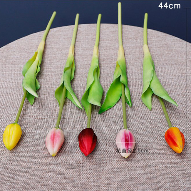 Hot Selling Kunstbloemen Real Touch Latex Single Stem Tulp
