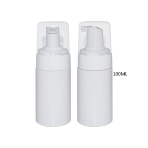 Plastic cosmetic foam pump dispenser spray with brush top pump lotion bottle