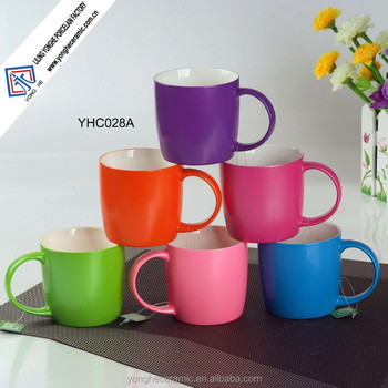 Nenon Bright Color Glazed Ceramic Coffee Mugs