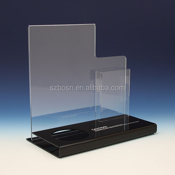 Stylish Design Acrylic Sign Holder For Retail Display
