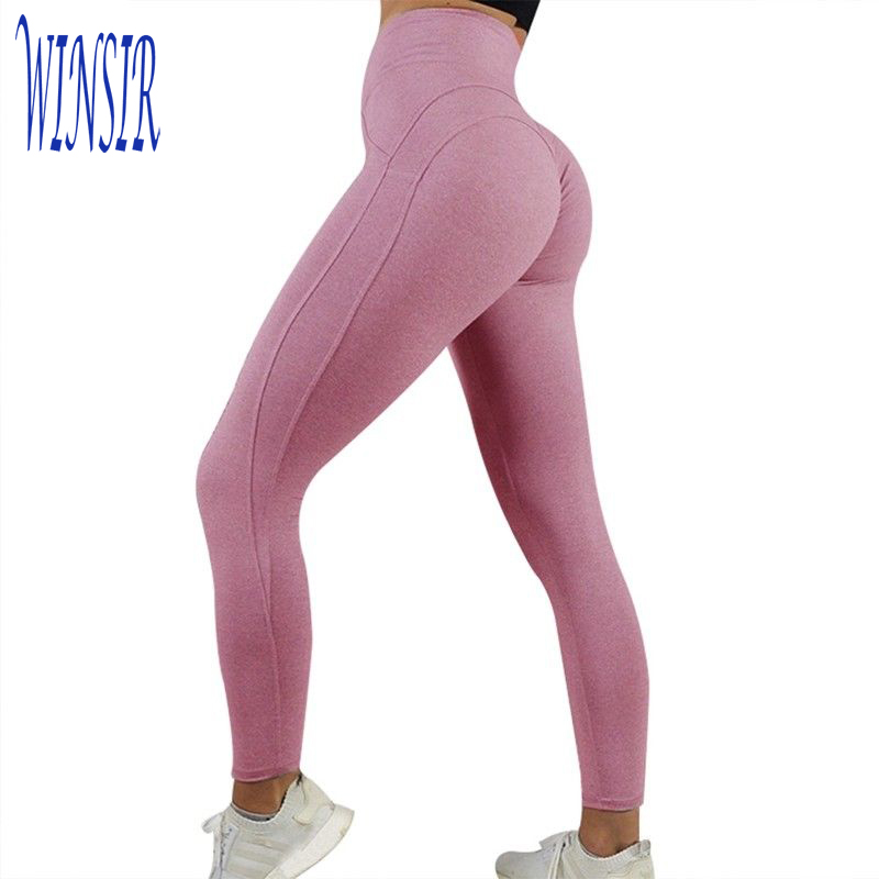 Groothandel Sexy Mode Hoge Taille Nylon Spandex Lycra Pushup Droge fit Fitness training Sportschool Sport Workout Yoga Shorts Side tie up