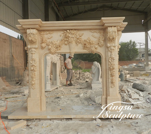 Factory directly supply antique marble fireplace mantels