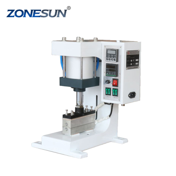 ZONESUN ZY-819G 40*150mm Automatic Stamping Machine leather LOGO Creasing machine stamper High speed card Embossing machine