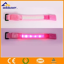 Nylon LED light wristbands Led running bracelets