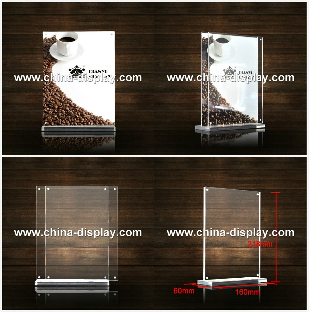 Restaurant Table Top Display Stands Menu Holders Sign Holders Covers - Restaurant table top sign holders