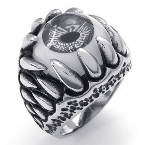 Stainless Steel Jewelry Supplier,Stainless Steel Dragon Claw Evil Eye Men's Ring