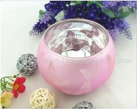 Electroplate Votive Tealight Antique Glass Candle Holder Butterfly Glass Candle Holders