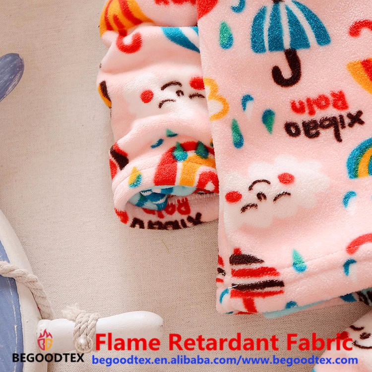 1879030ce264 100% Polyester Winter Warm Soft Flannel Fabric For Baby Pajamas ...