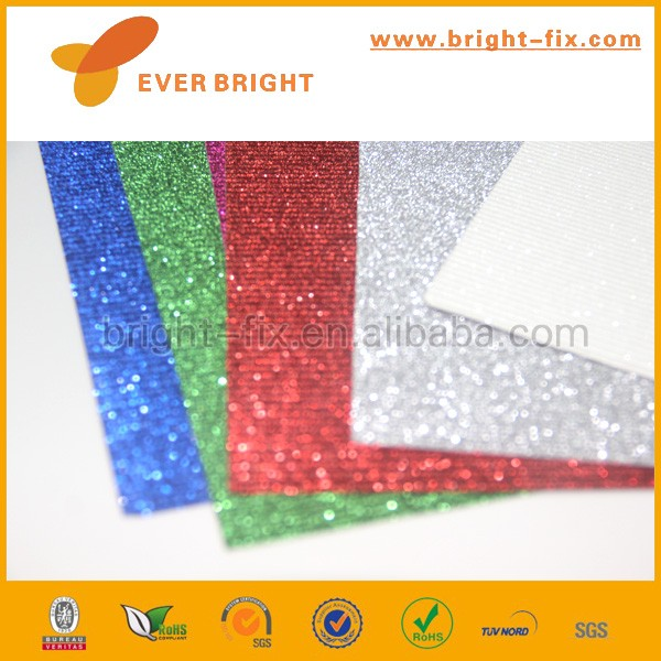 Party supplies fertigkeit bunte geprägte glitter wellpappe DIY wellkunstdruckpapier für kinder