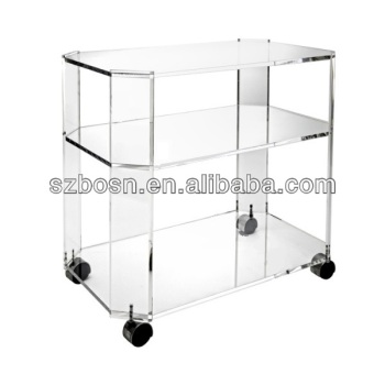 Acrylic Octagon Bar Cart,Plexiglass Octagon Bar Cart,Perspex Octagon Bar Cart