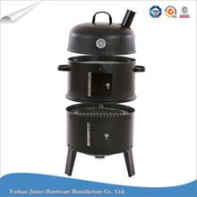 Hot Sell Charcoal Meat Smoker 3in1 bbq Grill
