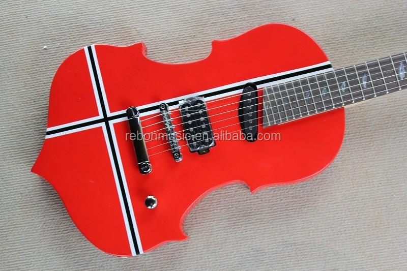 violin shape electric guitar buy electric guitar cool shaped guitars guitar product on. Black Bedroom Furniture Sets. Home Design Ideas