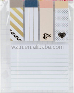 Hot Selling Custom Bookmark Notepads Sticky Notes
