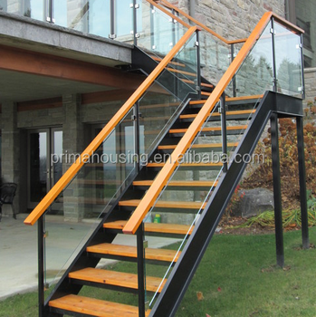 Metal Outdoor Stairs Stone Stairs Step With Steel Beam