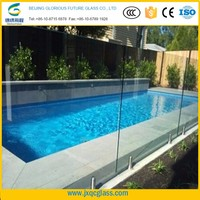 High demand products ultra clear 10mm 12mm tempered building glass above ground swimming pool wall glass construction