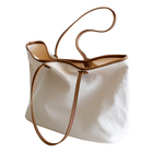Fashion ins street bag eco friendly durable cotton canvas tote bag with large capacity