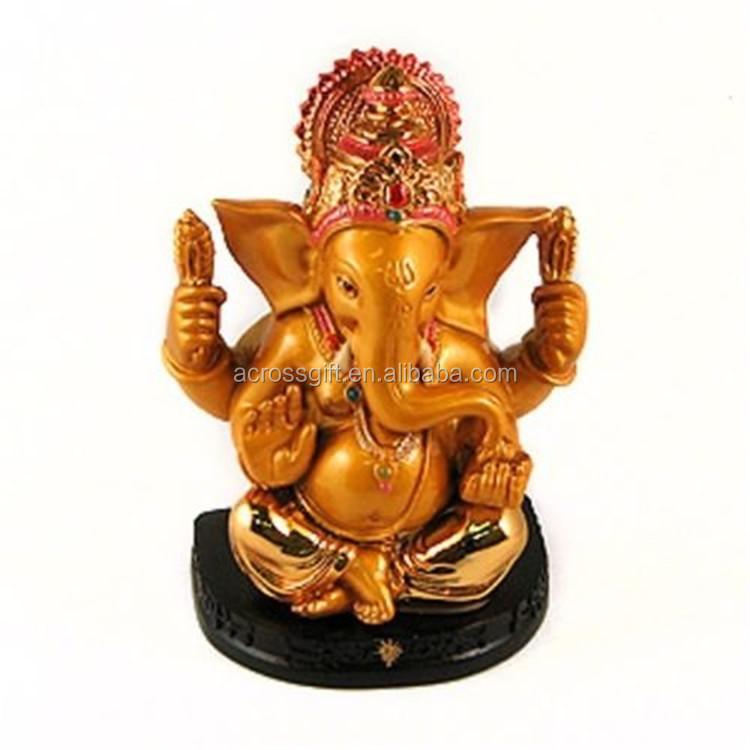 Personalized Hand Crafted Decorartive Poly Resin Hindu God Elephant Deity India