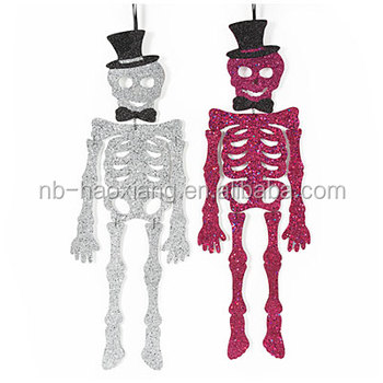 hanging glitter skeletons for halloween decoration - Skeleton Halloween Decoration