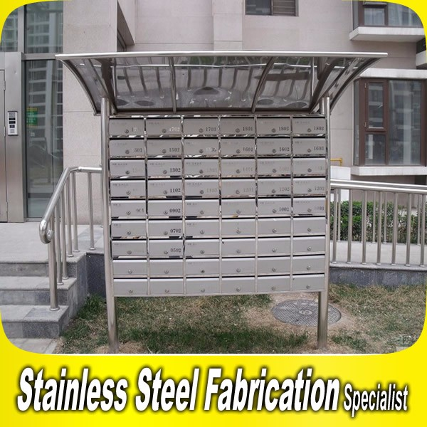 Commercial Mailbox Stainless Steel Apartment Letter Box Mail Post ...