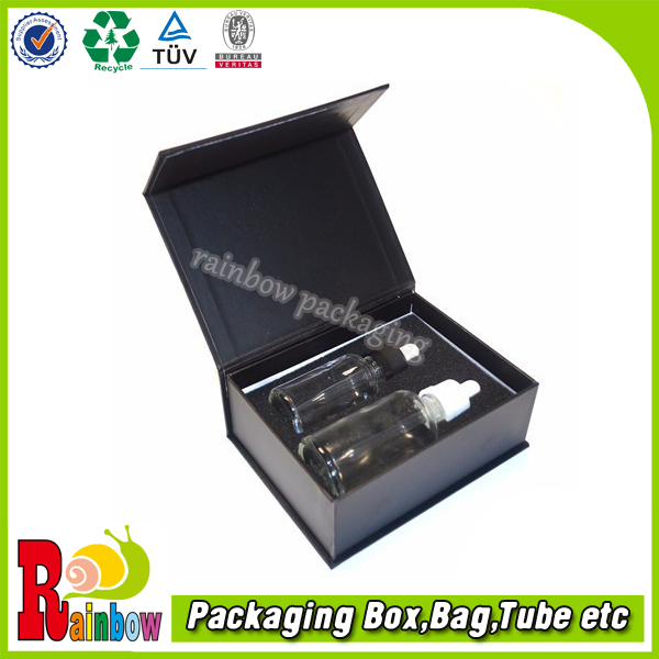 customized magnet box packing with sponge tray for bottles