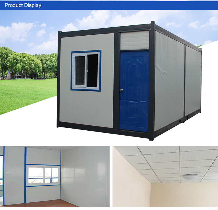 20ft detachable rock wool living container mobile board room