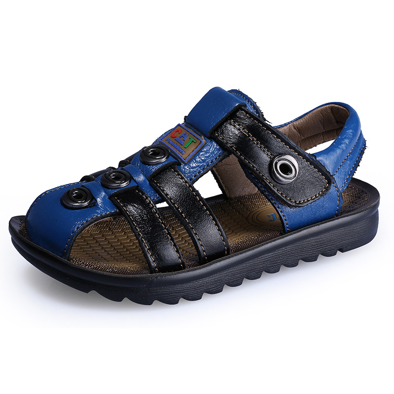 2015 summer style sandals children beach sandals genuine leather children shoes boys sandals free shipping c5r768