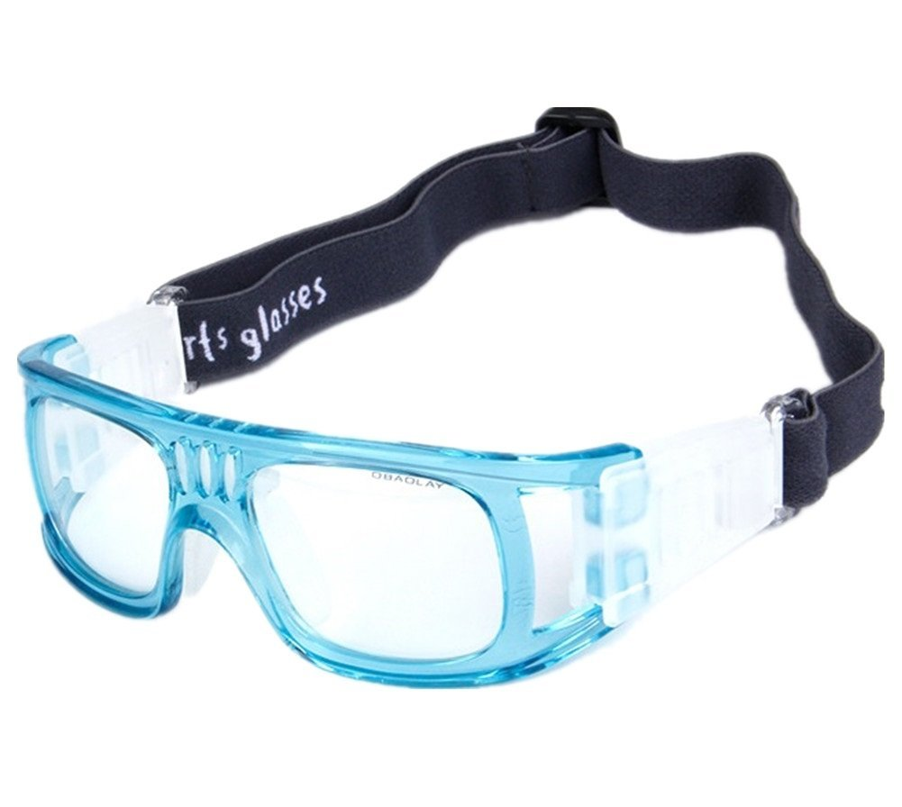 734aaf47d20a Get Quotations · Lorsoul Protective Outdoor Sports Goggles Safety  Basketball Glasses Eyewear for Adults with Adjustable Strap for Basketball