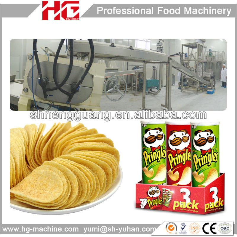 snack food 2013 new automatic Pringles compound potato chips Line from Direct Manufacturer