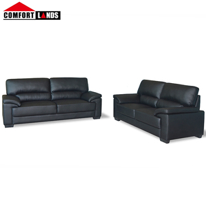 Customized design sofa for office ,modern leather sofa , black bonded leather sofa