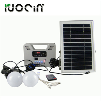 Portable 6W Solar Home Light System USB output for Camping / Hiking / Home Use Lamps Solar Power Panel System Kit