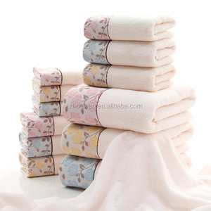 Beautiful solid color lace towels turkey