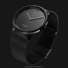 Minimalist cool style custom logo thin watch men