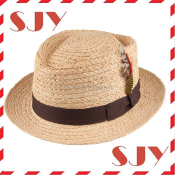 a36a0d129d71c6 Natural Short Brim Crushable Promotional Straw Pork Pie Hat - Buy ...