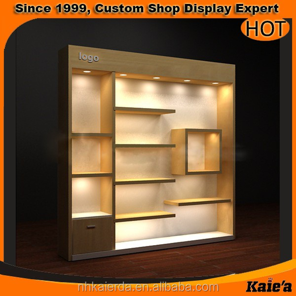 Modern Wall Wood Showcase Designs With Led Lights Buy