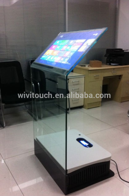 30 Inch Interactive Holo Projection Transparent Glass Info