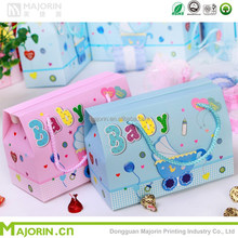 Wholesales high quality creative children colorful carton chocolate candy gift paper packaging box with handle