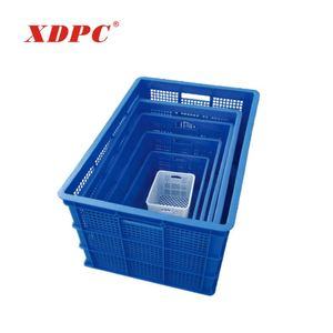 durable large heavy duty plastic industrial vegetable potato tomato fruit storage crates