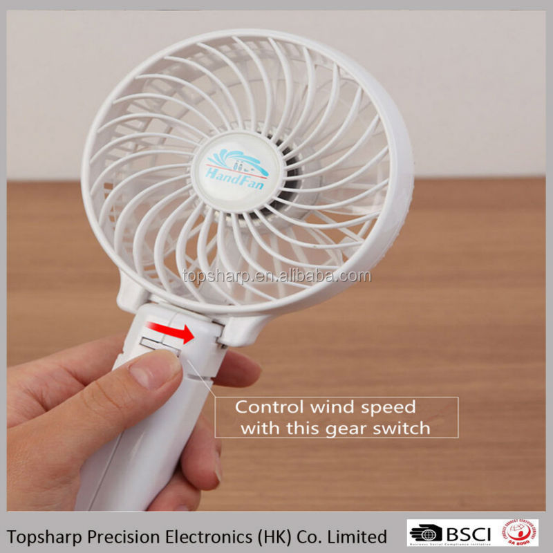 Fashion mini usb rechargeable 5 color portable fan cooling