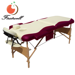 Portable wooden thai style massage bed body equipment