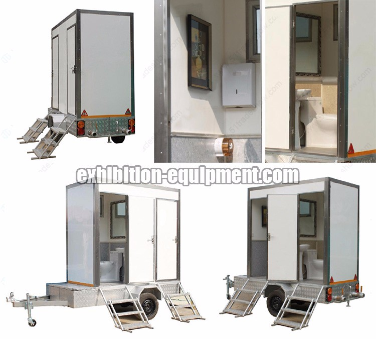 Portable Toilet Exhibition : Portable restroom site toilet trailers for sale buy