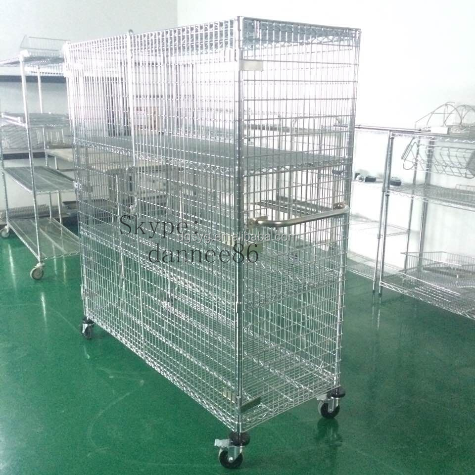 Chrome Mobile Stainless Steel Security Cage - Buy Security Cabinet ...