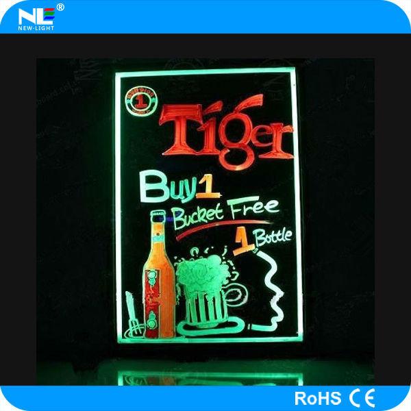Hot Sale Diy Acrylic Panel Led Colorful Backlight Writing Menu ...