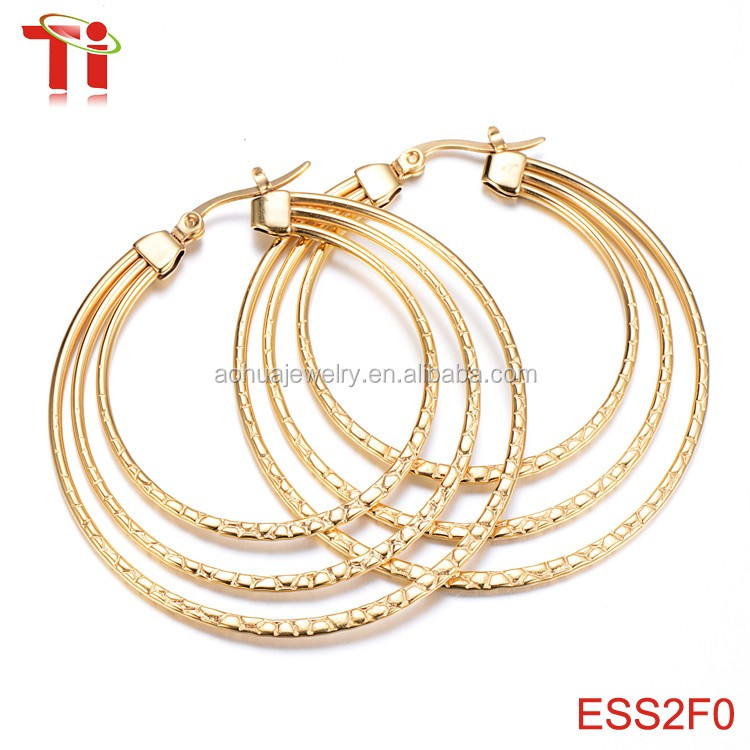 2016 simple gold earring designs for wommen, fashion high quality ...