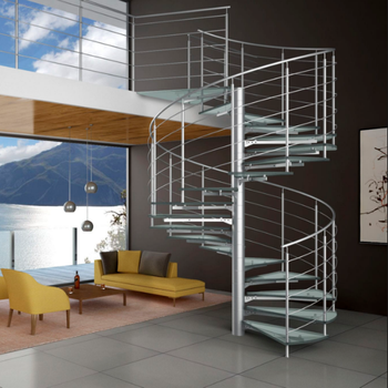 Vertical Post Stair Railing Prefab Small Stair Timber Step Spiral Staircase