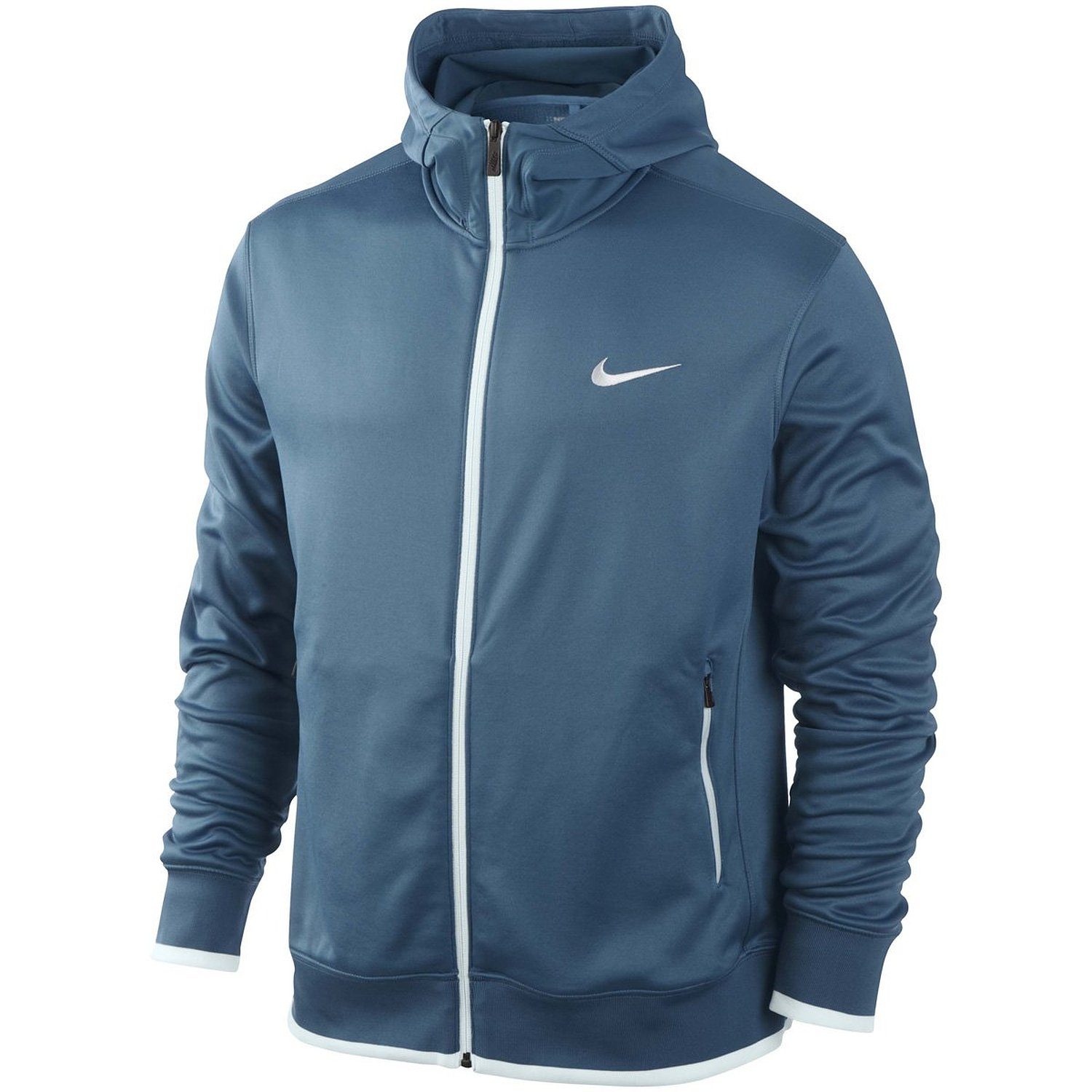 Nike Mens Dri-FIT Sport Hoody (Large, Shaded Blue/Windchill)