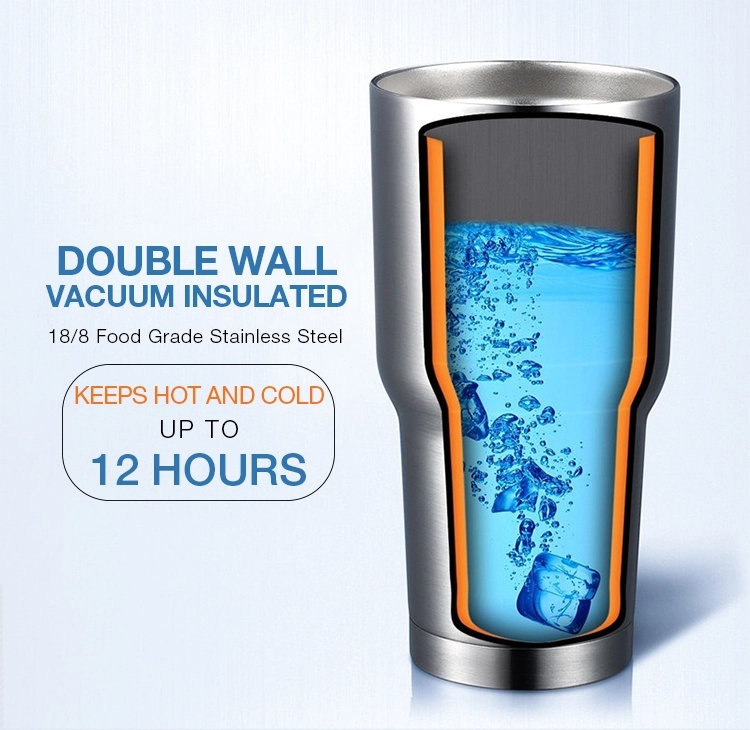 20oz Double Wall Stainless Steel Vacuum Tumbler Cups with Custom Logo