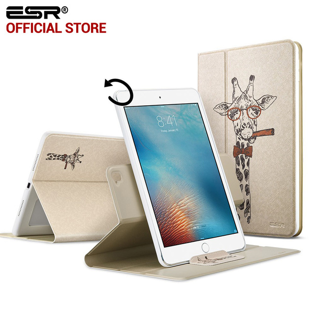 the latest 49717 615f6 Case for Apple iPad Pro 9.7 inch,ESR 360 degree Rotating Folio Stand Smart  Cover Case Cute Cartoon Pattern case for iPad Pro 9.7-in Covers & Cases ...