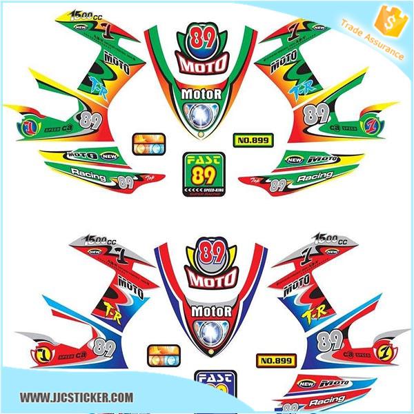 Custom Motorcycle Decal DesignWaterproof Motorcycle Decorative - Cool custom motorcycle stickers