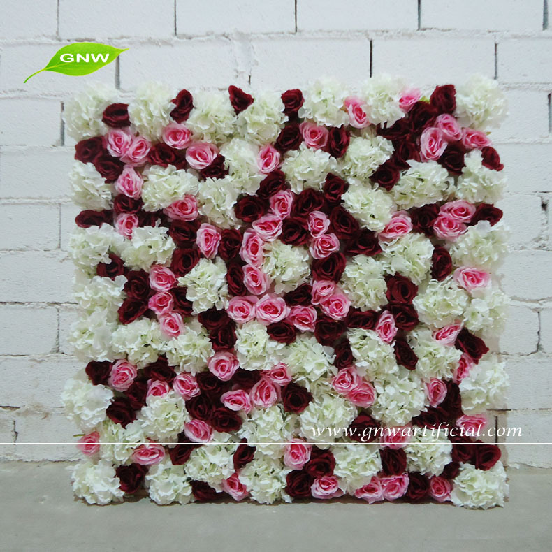 gnw flw1508013 cheap silk flower wall wedding backdrop for wedding