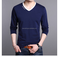 Wholesale Customed 100%Cotton Bulk Wholesale Men's Cheap Plain V Neck T Shirts